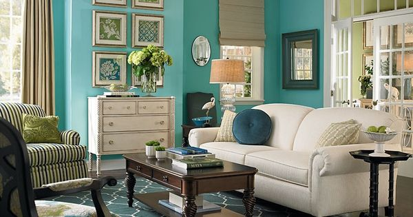 39 Living Room Ideas With Light Brown Sofas Green Blue: Love The Teal Paint & The