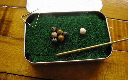 Pocket Yard Pool Table step 15 Cool Crafts Made with Altoid Tins
