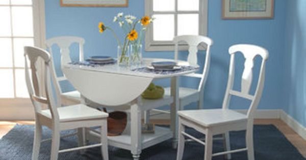 dining set small cheap white kitchen table chairs round drop leaf 5
