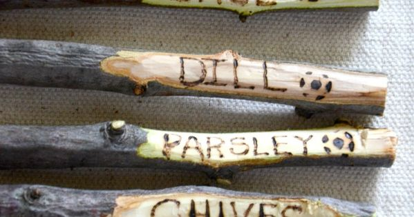... TWIG GARDEN MARKER DIY | Gardens, Plant markers and Garden plants
