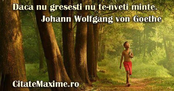 Citate Maxime Citatemaxime Ro Daca Goethe Places