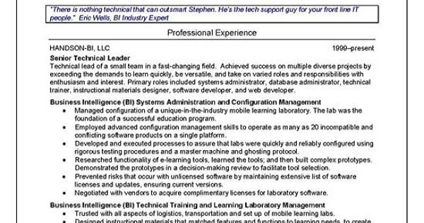 technical trainer resume example resume examples