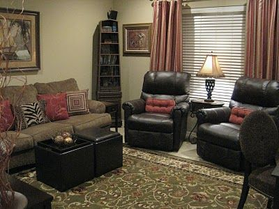 Living room recliner living spaces pinterest - Arrange sectional sofa small living room ...