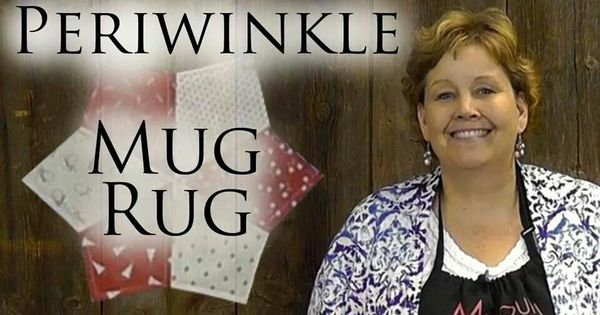 Periwinkle Mug Rug Jenny Doan Quilting Tutorials