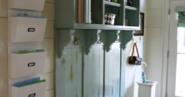 Mudroom or entry way inspiration. I love how organized this home is