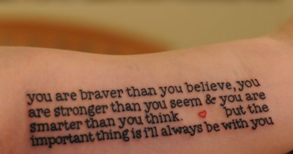 love tattoo quote