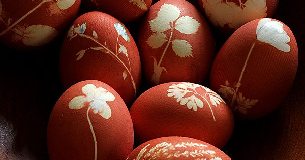 Pretty botanical easter eggs - courtesy Alicia Paulson and Posie Gets Cozy!
