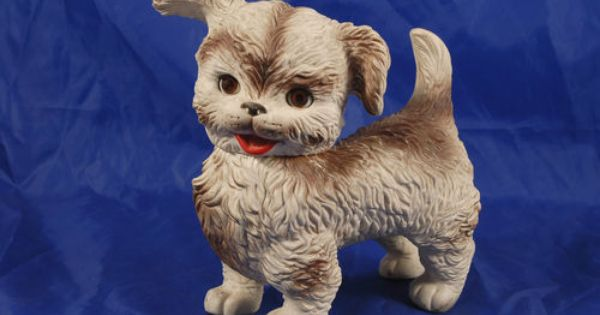 Vintage Rubber Puppy Dog Squeaky Toy W Sleepy Eyes Ed Mobley 10
