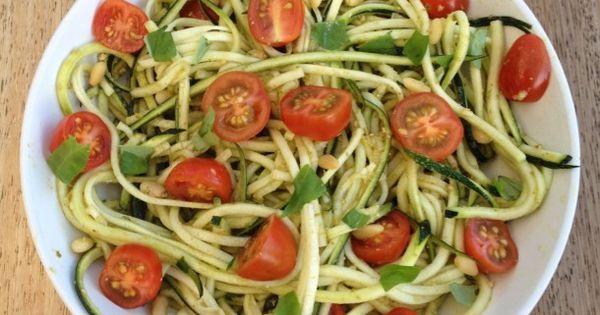 Courgette spaghetti courgettini sana methode sandra - Comment cuisiner courgette spaghetti ...