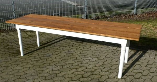 Tisch antik gesindetisch weichholz jugendstil esstisch um for Esstisch yellow