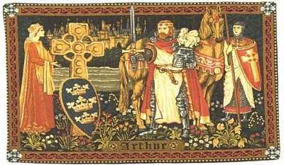 Medieval Tapestry King Arthur Medieval Tapestries With Pictures Of Knights 19 X 27 King Arthur Medieval Tapestry Arthurian