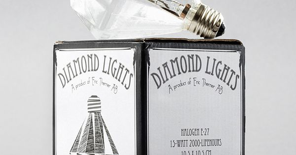 Luxury Lamp of the Day: Diamond-shaped 15 watt halogen light bulbs by