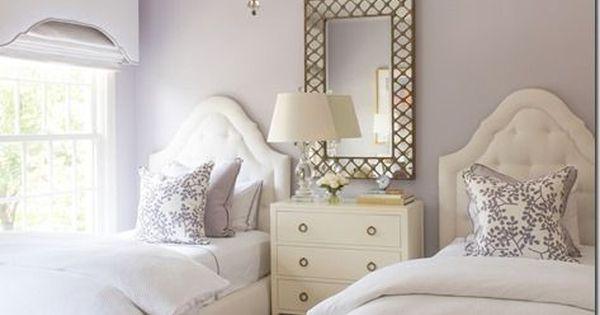 Ashley Goforth Design Lavender Room Elegant Twin Bedroom