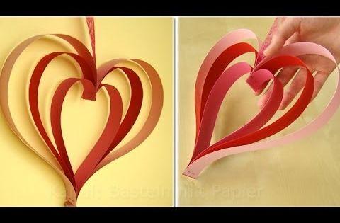 Herz basteln basteln mit papier bastelideen basteln for Bastelideen fa r erwachsene papier