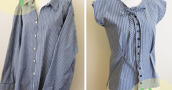 DIY MEN SHIRT REFASHION : DIY The Button Up Refashion Swap
