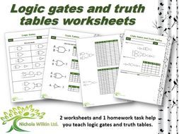 Logic Gates And Truth Tables Worksheet Pack Gcse Computer Science Teaching Resources Teaching