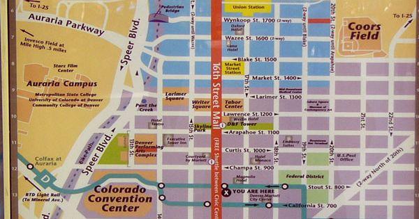 16th street mall map colorado be callin pinterest. Black Bedroom Furniture Sets. Home Design Ideas