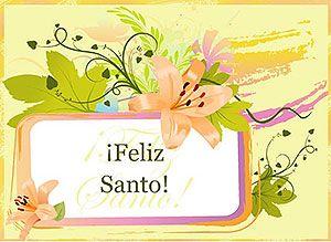 Felicitaciones De Santos Y Cumpleanos.Feliz Dia De Tu Santo Magicas Tarjetas Animadas Gratis
