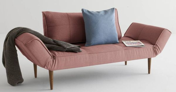 Innovation Living Canape Design Zeal Styletto Convertible Lit 200 70 Cm Tissu Rouge Soft Coral Lit Design Canape Design Et Lit