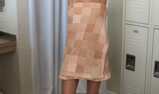 Pixelated bathroom towel. For the Sims fans! products