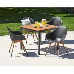 Gartentisch San Francisco 8989 Aluminium Jutlandia Hartholz