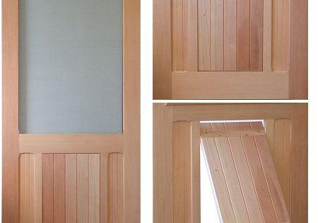 saranac traditional style screen storm door solid wood With solid door with dog door