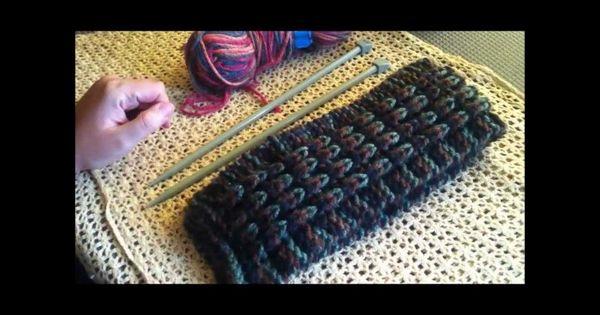 Cómo tejer: Bufanda en punto inglés (efecto de relieve ...