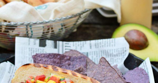 Hawaiian Hot Dogs with Mango Salsa | Recipe | Hot Dog Recipes, Dog ...