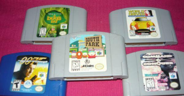 5 Nintendo 64 Game Bundle Lot 007 South Park Command Conquer World