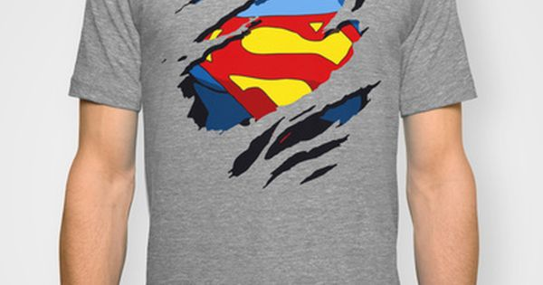 DC Comics Superman Torn Logo T-Shirt Uomo