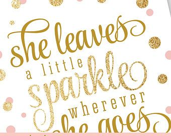 She Leaves A Little Sparkle Wherever She Goes Printable Nursery Art Birthday Sign Gold G Baby Girl Nursery Wall Art Baby Girl Nursery Decor Girl Nursery Wall