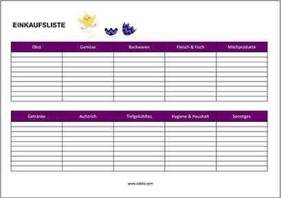 Einkaufsliste Einkaufszettel Vorlagen Zum Ausdrucken Einkaufsliste Vorlage Einkaufsliste Einkaufsliste Zum Ausdrucken