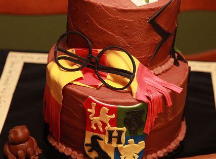 chocolate Harry Potter birthday cake by cakeboxgirls, via Flickr