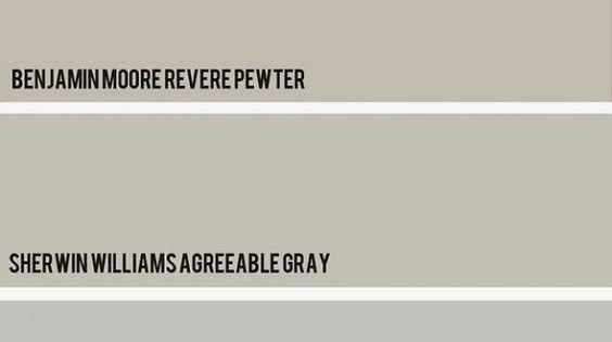 Revere Pewter Vs Agreeable Grey Dream Home Pinterest