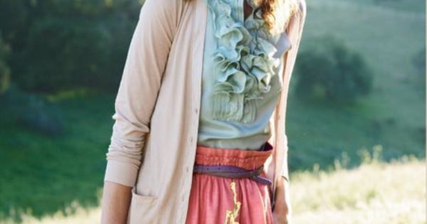 jcrew: a little ruffle heavy, but i love the colors. the sweater