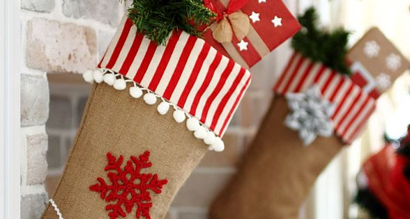 Burlap Christmas Stocking diy