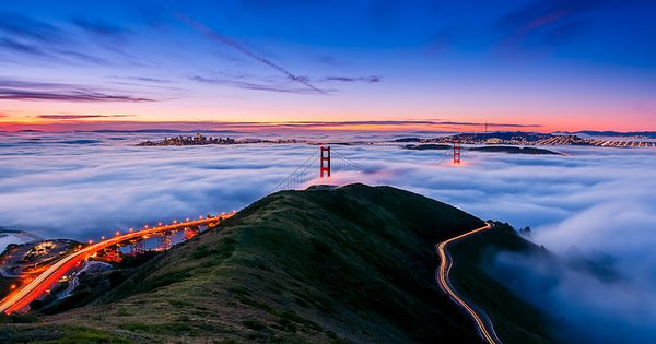 Happy 75th Birthday - Joe Azure. San Francisco's Golden Gate Bridge. Sunrise