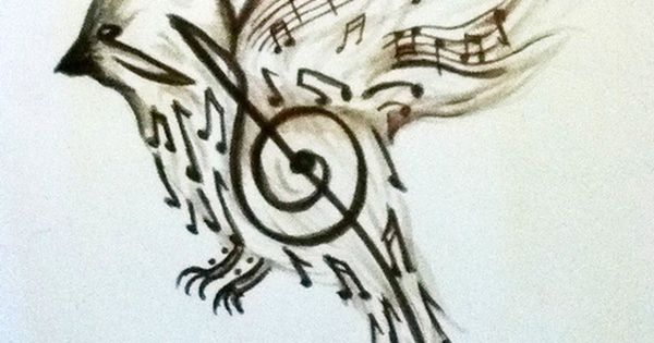 something beautiful for the music lovers... song bird bird tattoo music note