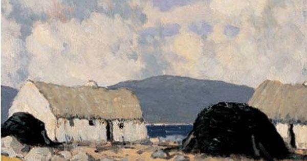 Connemara Cottages Paul Henry Rha Rua 1876 1958 Ireland Irish Painters Art Irish Landscape