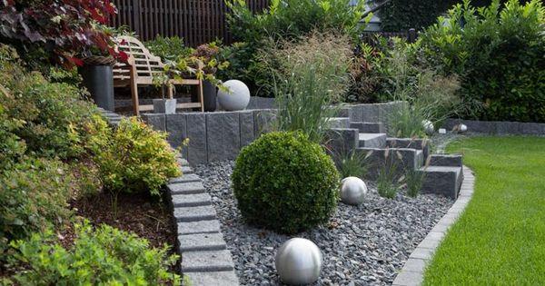 gartengestaltungsideen: steingarten anlegen mit passender, Moderne deko