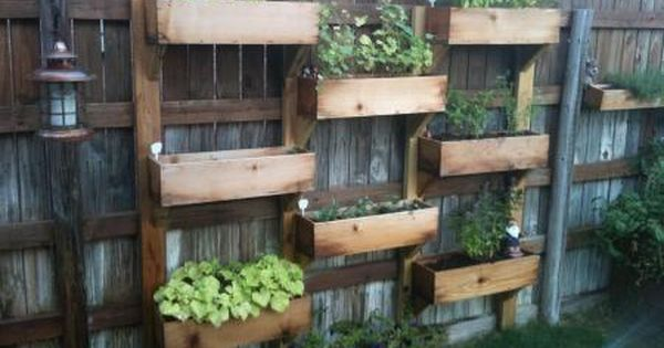 vertical garden. great small space garden idea
