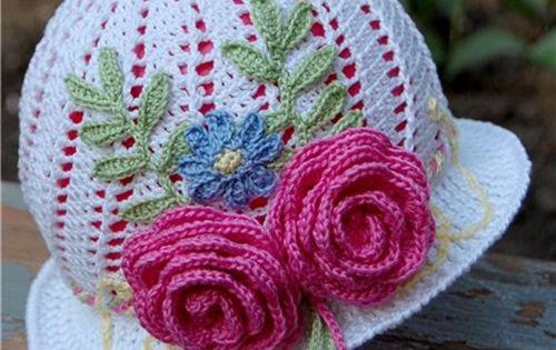 Free Crochet Pattern For Panama Hats : DIY Crochet Pretty Panama Hat for Girls Flower hats ...