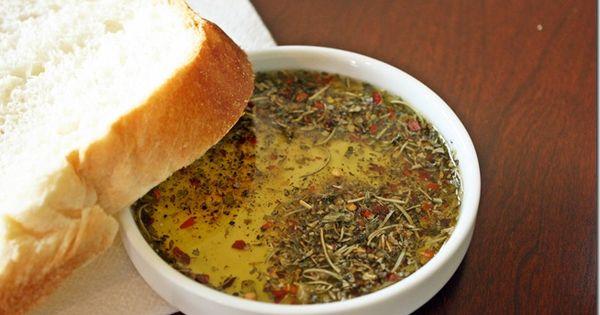 herb oil recipe for bread