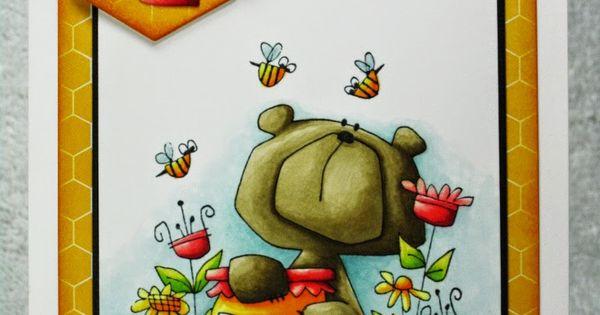 Copic Coloring Bear E87 E84 E81 Honey Pot Y38 Y11