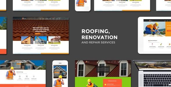Roofing Renovation Repair Service Stroitelnaya Wordpress Tema Roofing Is Wordpress Theme Designed For Construction Comp Wordpress Theme Design Wordpress Theme Trim Work