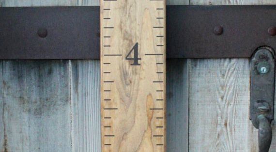 Super simple way to make your own Growth Chart Ruler!! DIY Vinyl
