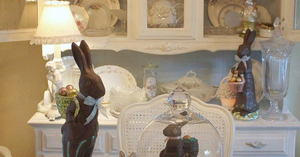 My Romantic Home: Easter Decor from the past - Show and Tell