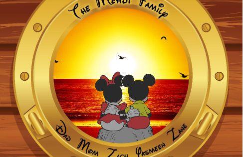 Disney Cruise Magnet Mickey And Minnie Sunset Porthole Custom Personalized Disney Cruise Line