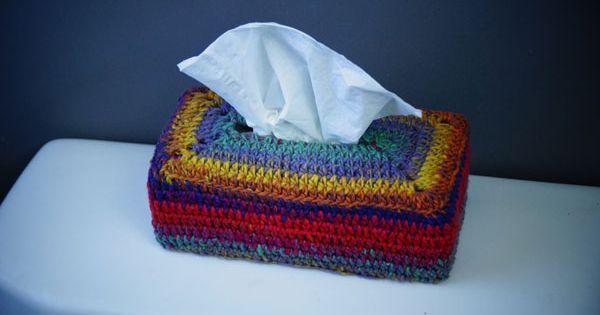 Bernat Mosaic Yarn Free Crochet Patterns : Learn how to crochet a tissue box cover using Bernat ...