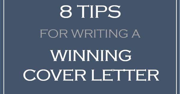 tips for a good cover letter